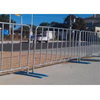 Buy cheap Mobile Pedestrian Portable Crowd Safety Barriers 1.2*2.1m Color Fence from wholesalers