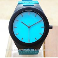 Buy cheap colorful wood watches , sky blue color fashion man watches , custom your own logo from wholesalers