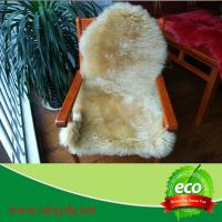 Buy cheap 60x90cm wholesale factory price sheepskin rug carpet sheep fur rug made in China from wholesalers