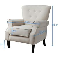 Buy cheap Sofa Mid Century Upholstered Arm Chair Single Sofa Modern Comfy Furniture from wholesalers