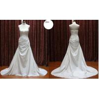 Buy cheap High Neck A - Line Pleat Strapless Taffeta Bridal Gown Wedding Dress Silhouettes from wholesalers