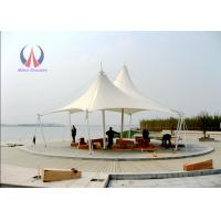 Buy cheap Double Ridge Roof Building Shade Structures , Steel Sling Car Wash Shade Structures from wholesalers