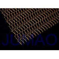 Buy cheap Brass Flexible Architectural Metal Fabric Solar Protection For Roller Blinds product
