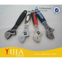 Buy cheap chrome plated/nickel-iron alloy/black nickel/electrophoresis surface/colorful rubber handle adjustable spanner from wholesalers
