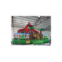 Buy cheap Red Coconut Tree Inflatable Fun City With Slide Jumping Castle from wholesalers