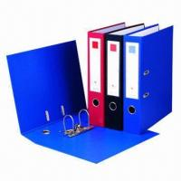 Buy cheap Lever Arch File Folder with Double PVC Cover, High Grade Hardware Fitting, Mechanism and Cardboard from wholesalers
