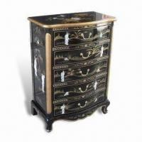 Buy cheap Black Lacquer Furniture Curio Cabinet with Hand Painted Landscape, Mother of Pearl Inlaid from wholesalers
