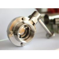 Buy cheap Customized Fabrication Sanitary Butterfly Valves , Tri Clamp Butterfly Valve from wholesalers
