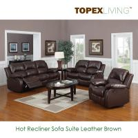 Buy cheap Recliner Sofa,Loveseat,Recliners,Chair,Leather Brown Sofa set,Bonded leather sofa,Air Leather Sofas with Console from wholesalers