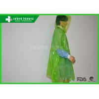 Buy cheap One Time Use Colorful Emergency Disposable Rain Ponchos For Weather Protection from wholesalers