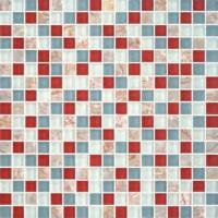 "Buy cheap 5/8""X5/8"" Glass Stone Blend Mosiac Kitchen Tiles from wholesalers"