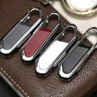 Buy cheap Metal keychain leather swivel usb flash drive from wholesalers