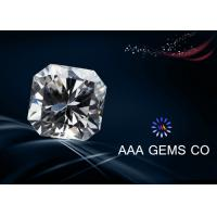 Buy cheap VVS1 Lab Diamond Asscher Cut Moissanite Colorless Polished Good from wholesalers
