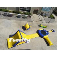 Buy cheap Floating Inflatable Water Park with Water Slide Water Trampoline and Water Bungee from wholesalers