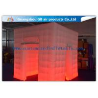 Buy cheap Popular Oxford Material Square Inflatable Photo Booth Kiosk Tent With Led product