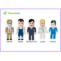 Buy cheap Portable Character USB Drives Doctor With Durable Solid State Storage , Doctor / Nurse Model from wholesalers