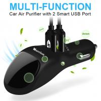 Buy cheap 2 USB Port  Smart Car Charger With Ionic Air Cleaner Ionizer , Car Air Purifier from wholesalers