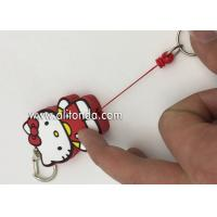Buy cheap Custom promotional Work Card Easy To Pull Buckle keychains ID card Badges reels with 3d cartoon figures pvc design from wholesalers