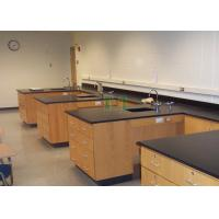 Buy cheap Aluminum Frame Laboratory Work Benches Customized Black Phenolic Resin Top from wholesalers