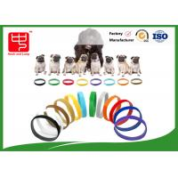 Buy cheap Puppy Id Collars Thin Hook And Loop hook and loop Straps For Dog Pet , Color Distinguish from wholesalers