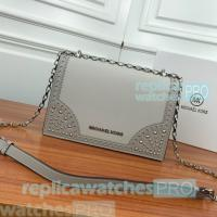 Buy cheap Newest michael kors replica handbag metal zipper chain shoulder bag from wholesalers