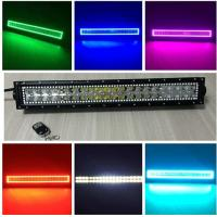Buy cheap Tracing halo RGB 120W 22-inch straight LED light bars with controller from wholesalers