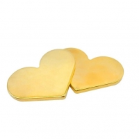 Buy cheap Industrial Gold Coating N35 NdFeB Heart Shaped Magnet from wholesalers