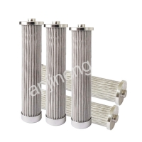 Buy cheap 10 Micron Stainless Steel Pleated Filter Cartridge Hydraulic Press Oil Filter Element from wholesalers