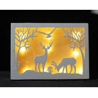 Buy cheap laser cutting wooden LED lighting box holidays gifts light up boxes from wholesalers