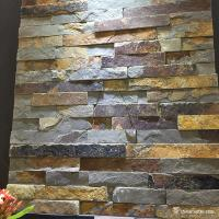 Buy cheap Natural Stone Rust Slate Mini Panel For Wall Cladding High Temperature Resistance from wholesalers