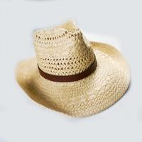Buy cheap 2017 New Style Handmade fashion paper straw hat women hollow out beach summer wide brim cowboy hat for adults from wholesalers
