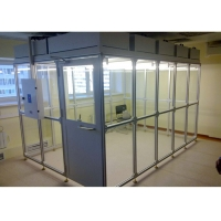 Quality OEM Aluminum Profile Frame Softwall Clean Room ISO 5 ISO 7 Dispensing Booth for sale