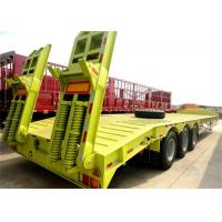 Buy cheap CIMC Piling Rig Transport Gooseneck Low Bed Semi Trailer with wheel rim Drop Deck Truck Trailer for sale from wholesalers