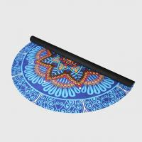 Buy cheap Custom floral print natural rubber suede microfiber surface round circle yoga mat for fitness product
