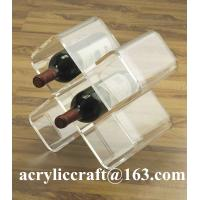 Buy cheap Customize Transparent Plexiglass Wine Rack Popular Clear Acrylic Wine Holder from wholesalers
