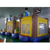 Buy cheap Outdoor Playground Inflatable Kids Jumping Castle Yellow And Blue With Air Blower from Wholesalers