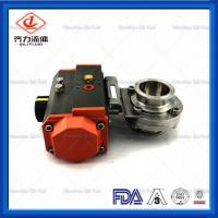 Buy cheap Light Weight  Sanitary Butterfly Valve With Aluminum Pneumatic Actuator from wholesalers