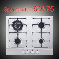 Buy cheap Auto Ignition Gas Stove 4 Burner Stainless Steel With Enamel Pan Support from wholesalers