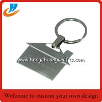 China House shaped metal keychain/key holder, house shape keychain with custom logo on sale