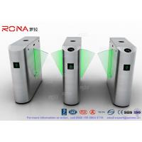 Buy cheap Fingerprint Retractable Flap Pedestrian Barrier Gate Tripod Gates For Entrance & Exit from wholesalers