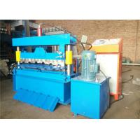 Trapezoidal IBR Roof Panel Roll Forming Machine , Metal Roofing Roll Former4KW