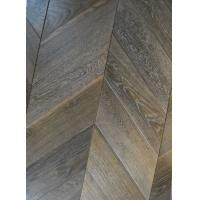 Buy cheap Chevron white washed oak parquet wood flooring from wholesalers
