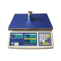 AC / DC Digital Weight Scale 3kg - 30kg Digital Price Computing Scale With Green LED