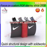 Buy cheap 2015 hot sell customized branded shoe advertising display stand and booth from wholesalers
