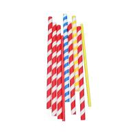 Buy cheap Disposable  Party Supplies Paper Straws Juice Milkshake Smoothie Paper Straws from wholesalers