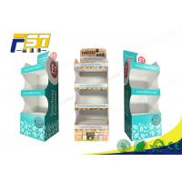 Buy cheap POP Printing Cardboard Floor Displays 4 Shelves Customized Logo For Retail Promotion from wholesalers