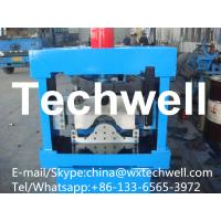 Buy cheap 0.3-0.7mm Glazed Roof Ridge Cap Roll Forming Machine with  Welded Structural Steel from wholesalers