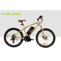 Buy cheap 32Km / H Mens Mid Motor Electric Bike 36V 350W Mountain Bicycle 26 Inch Aluminum Frame from wholesalers
