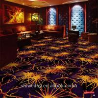 Buy cheap 2019 newest gold fireworks pattern Commercial microfiber carpet from wholesalers