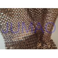 Buy cheap Brown Hollow 4 Mm Metal Sequin Fabric Cloth For Interior Or Exterior Drape product